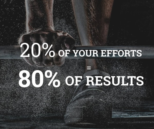 20 efforts = 80 results